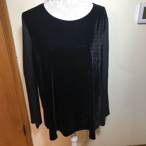 Fred David velvet blouse, size XL, NWOT